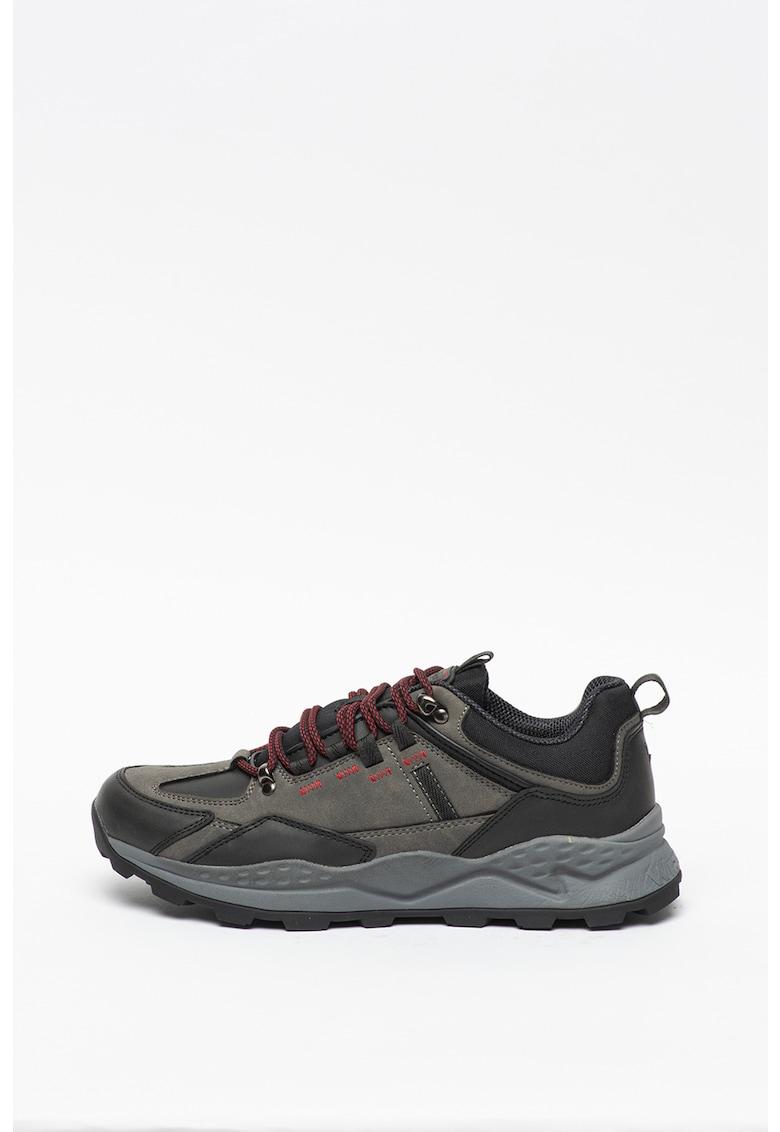 Pantofi sport de piele nabuc ecologica - cu insertii de piele ecologica Crossy Peak
