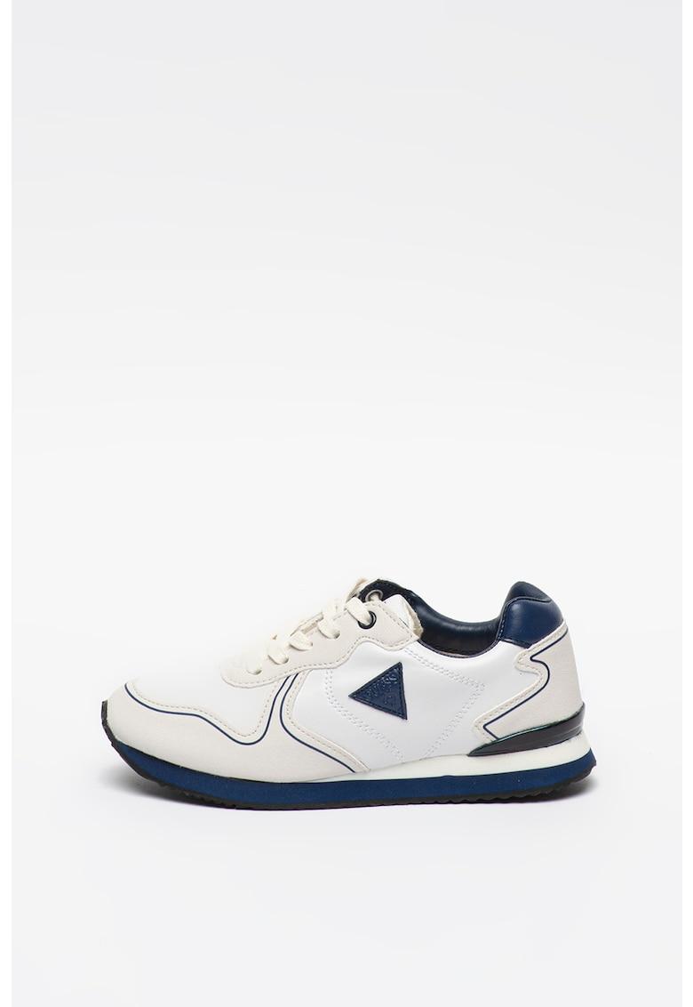 Pantofi sport de piele ecologica cu aplicatie logo