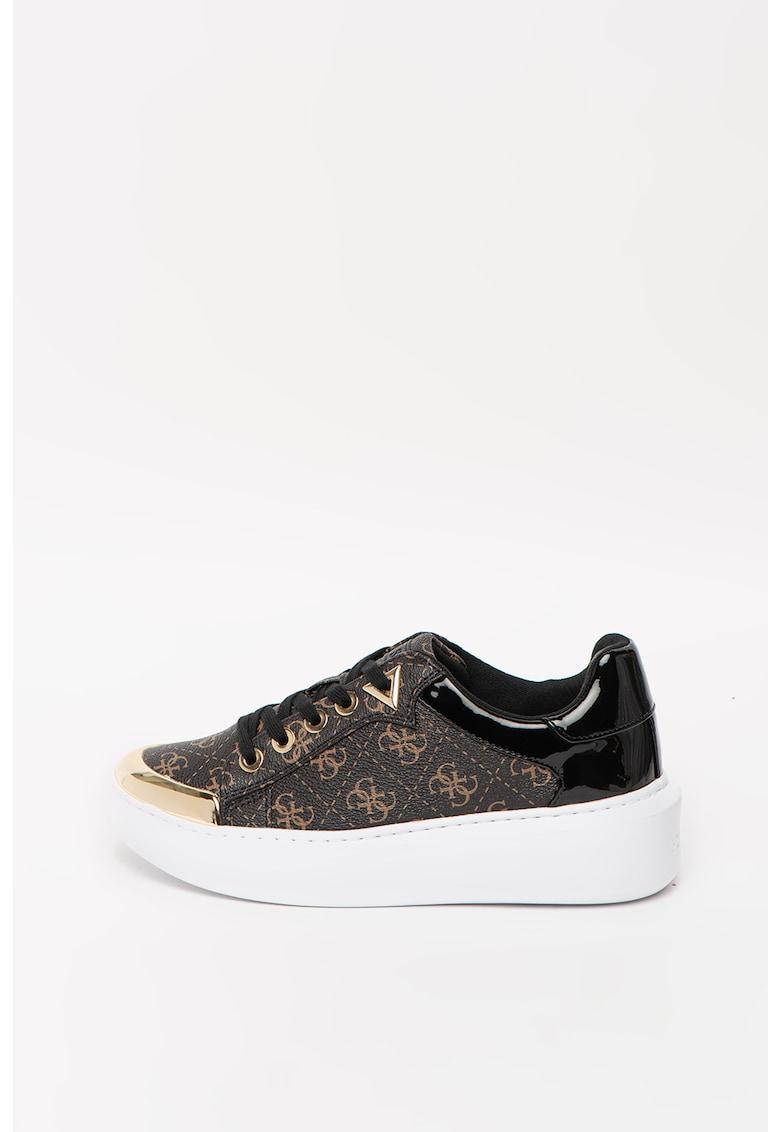 Pantofi sport wedge cu model monograma