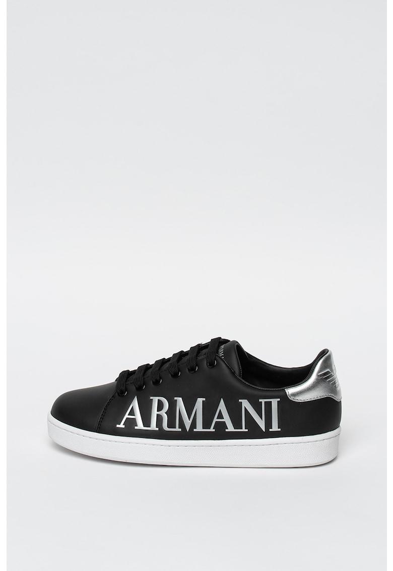 Pantofi sport de piele - cu logo