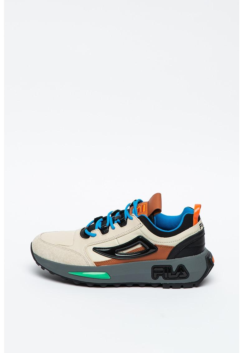 Pantofi sport masivi cu model colorblock si garnituri din piele si piele intoarsa Runner Fila imagine 2021