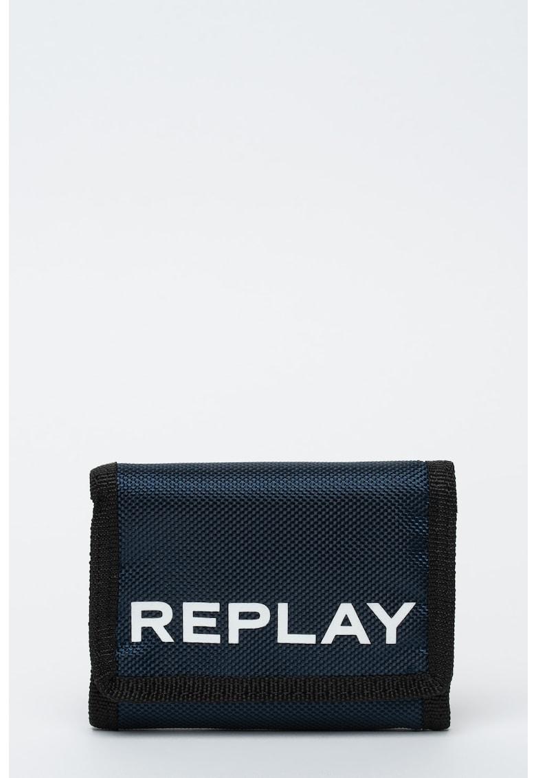 Portofel pliabil cu logo de la Replay