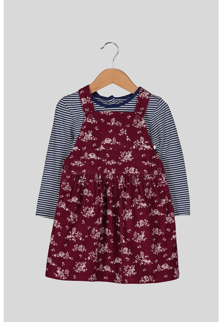 Set de bluza si rochie cu imprimeu - 2 piese poza fashiondays