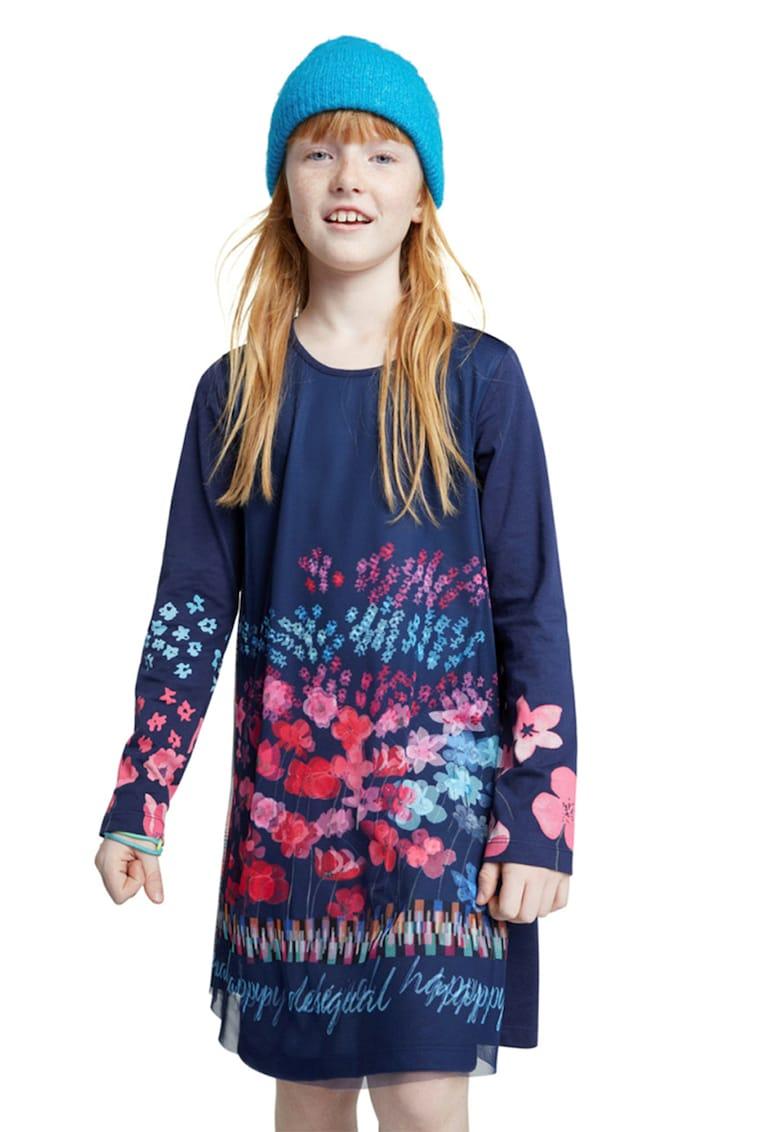 Rochie evazata cu imprimeu floral DESIGUAL