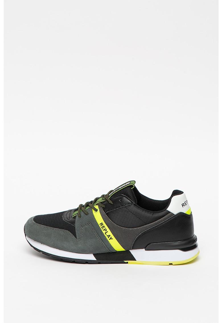 Pantofi sport cu insertii de plasa Faber