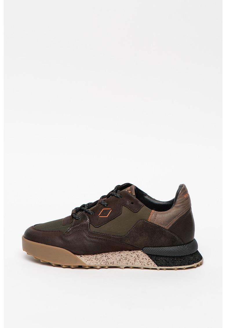 Pantofi sport de piele si piele intoarsa - cu insertii de plasa Sandoval