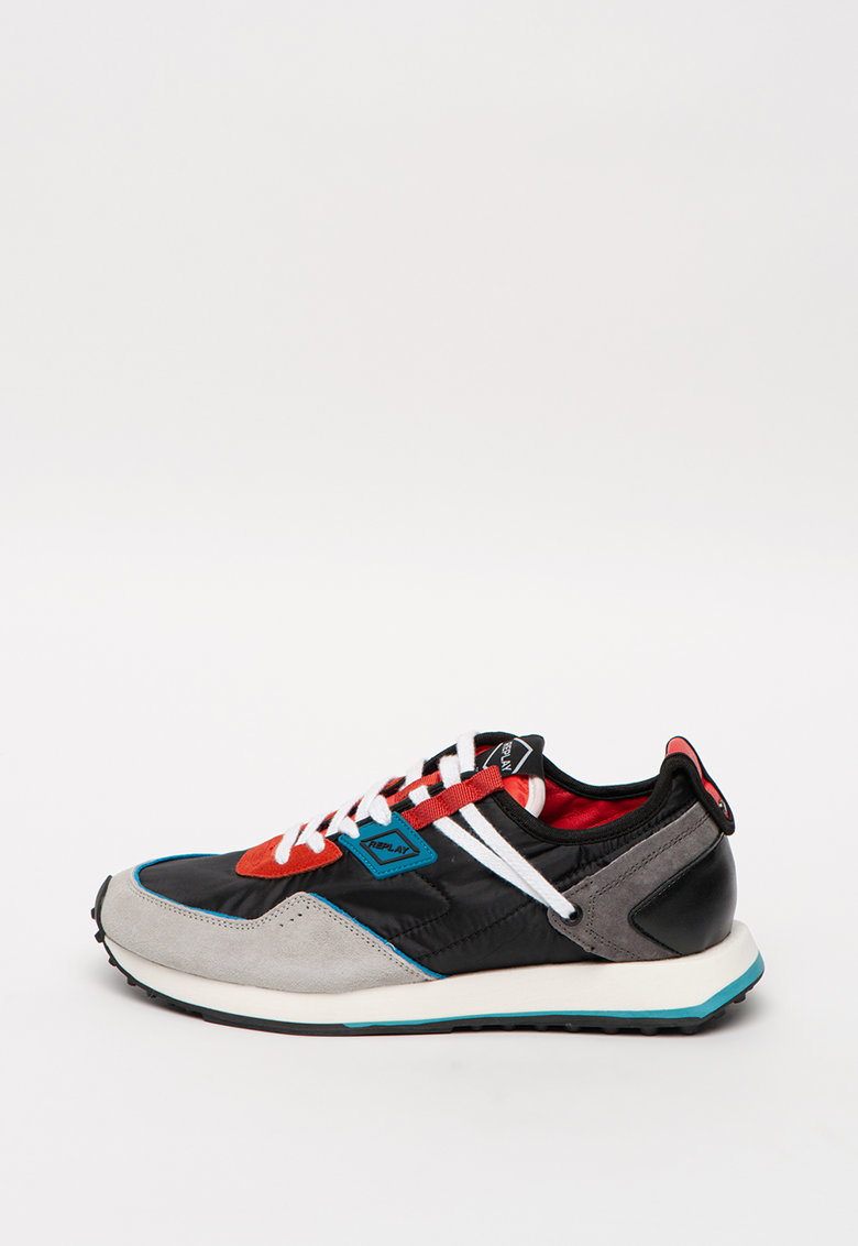 Pantofi sport colorblock cu garnituri de piele intoarsa Drum Pro Wave