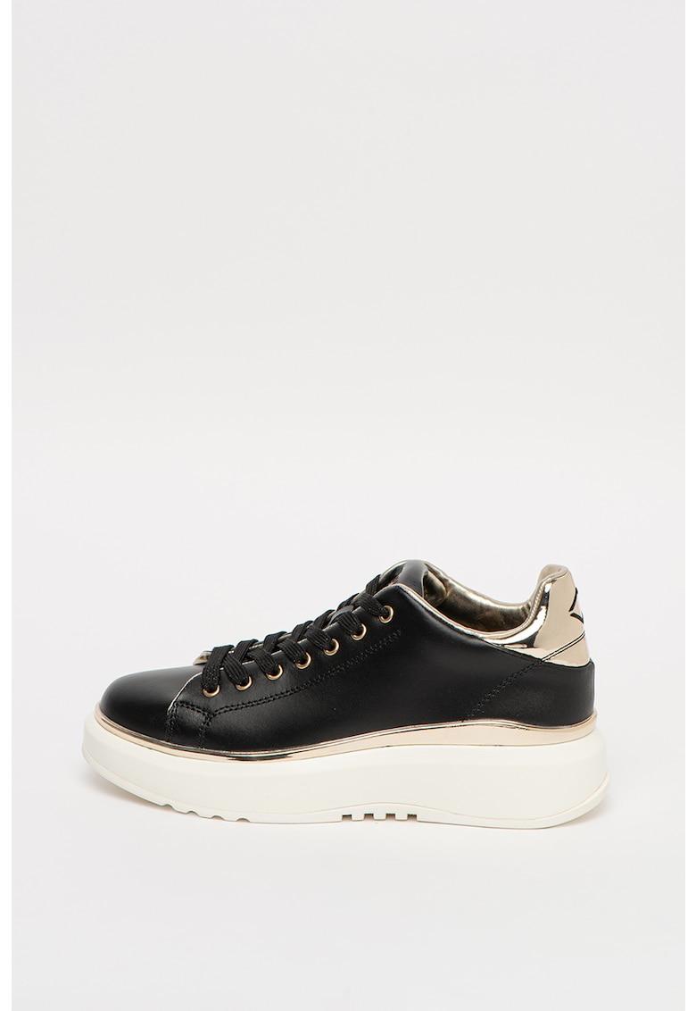 Pantofi sport wedge de piele