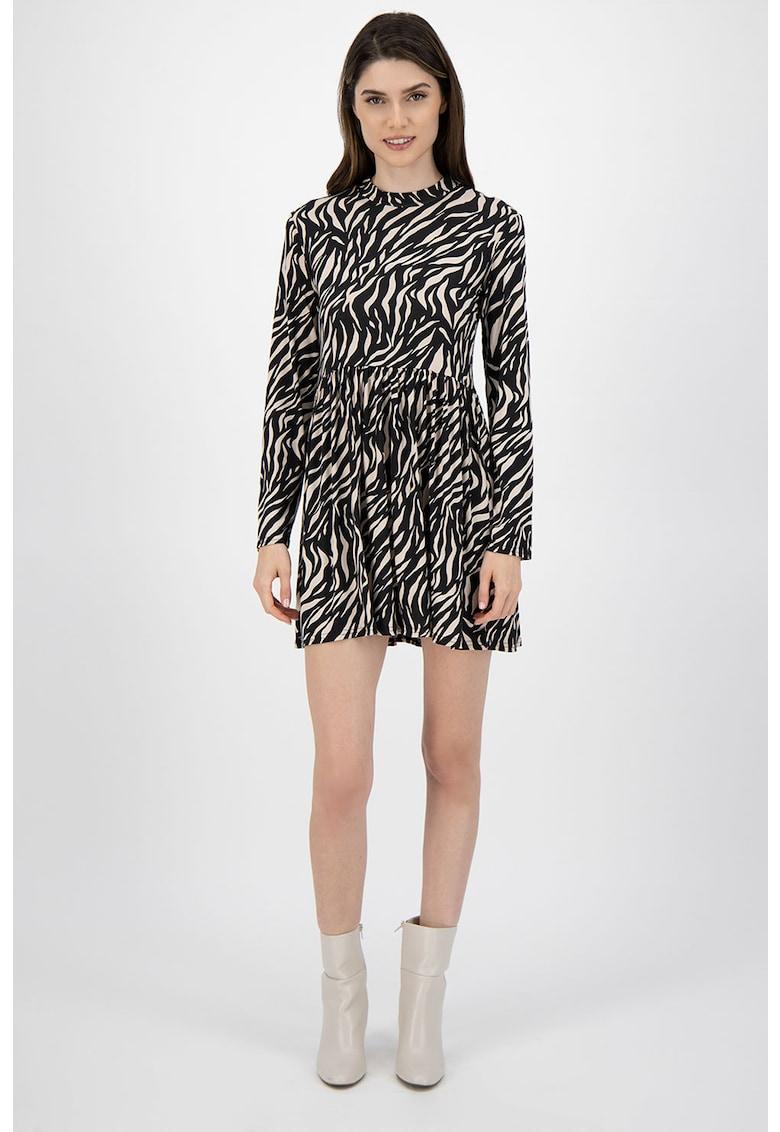 Rochie mini cu imprimeu zebra