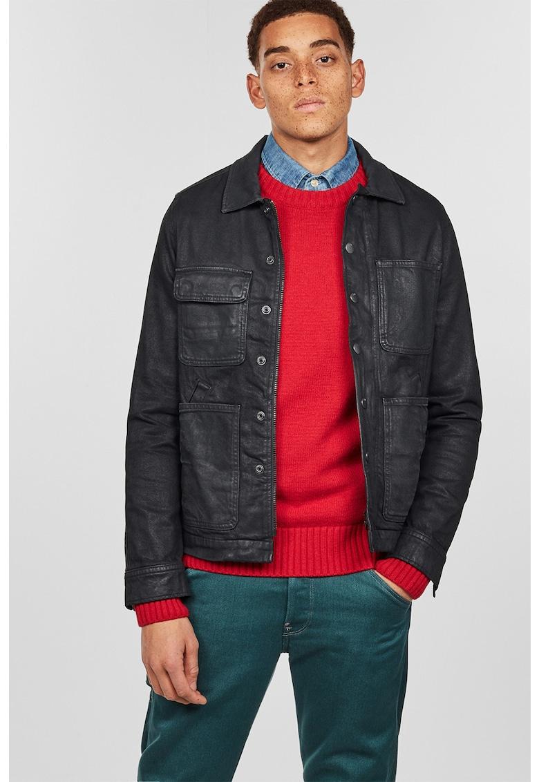 Jacheta din denim cu buzunare aplicate Blake