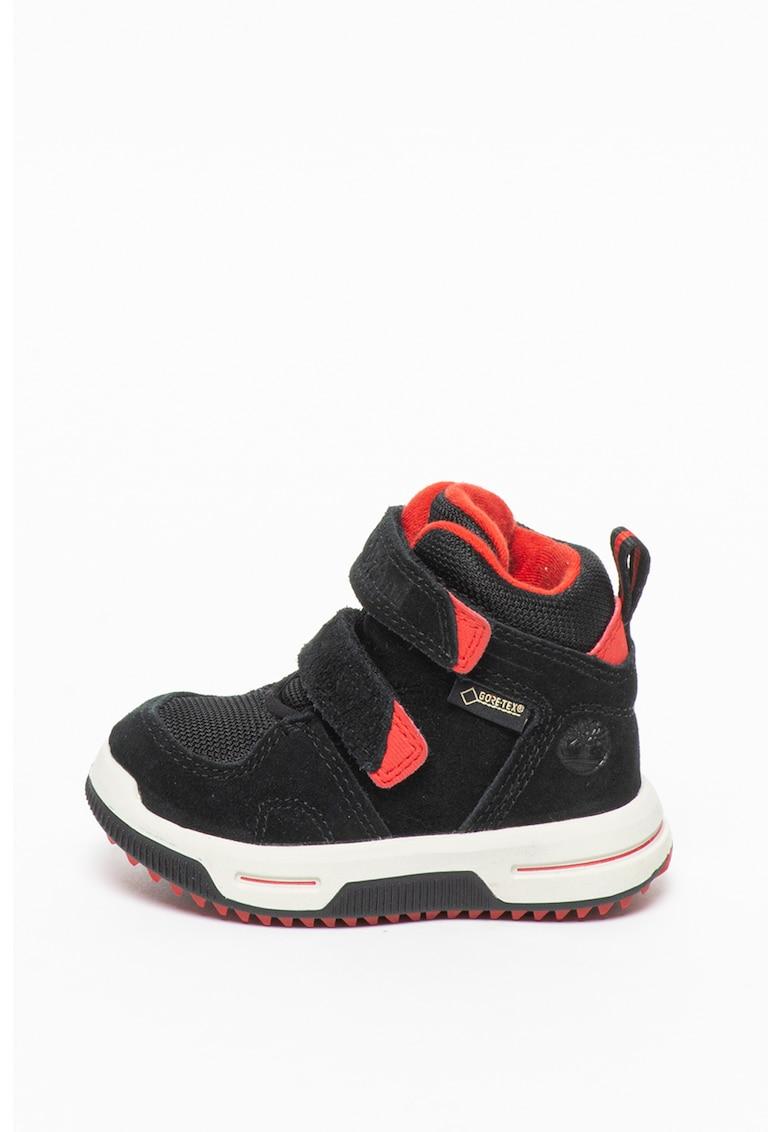 Pantofi sport high-top cu insertii de piele intoarsa City Stomper