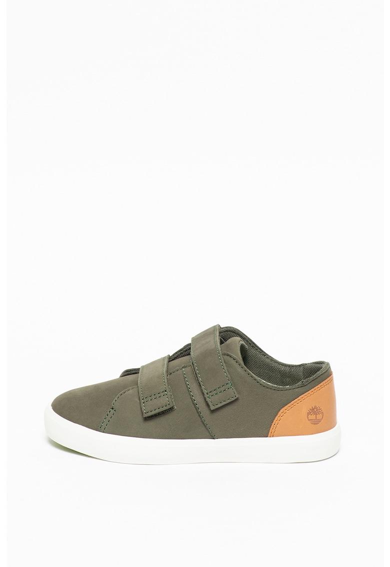 Pantofi sport de piele nabuc - cu velcro New Port Bay