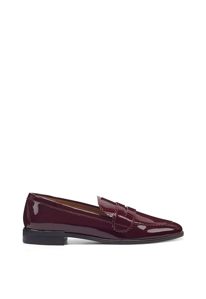 Pantofi loafer de piele lacuita Nanci