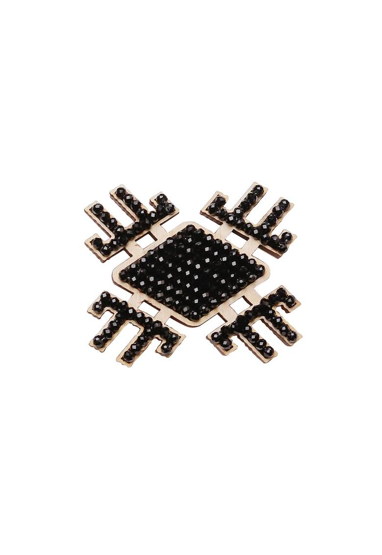 Brosa magnetica cu motiv etnic Floare de Mai imagine fashiondays.ro