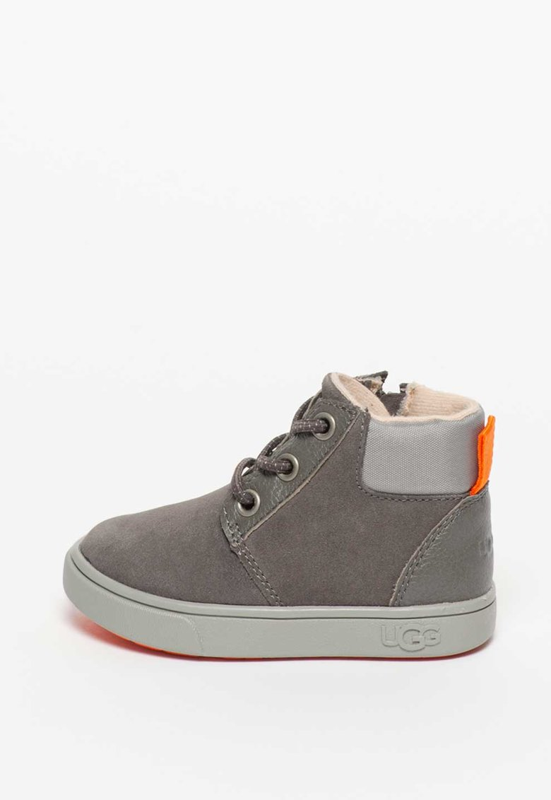 Pantofi sport mid-high din piele intoarsa si material textil Jayes