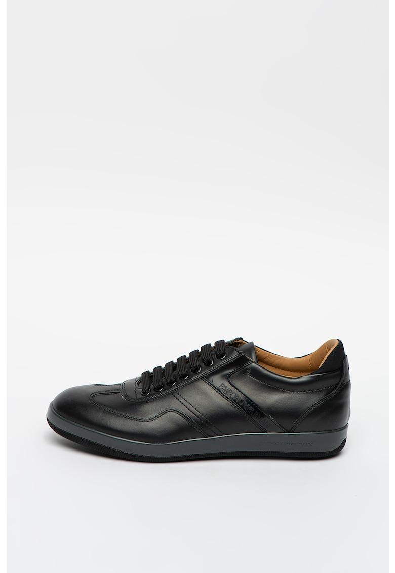 Pantofi sport de piele si piele ecologica