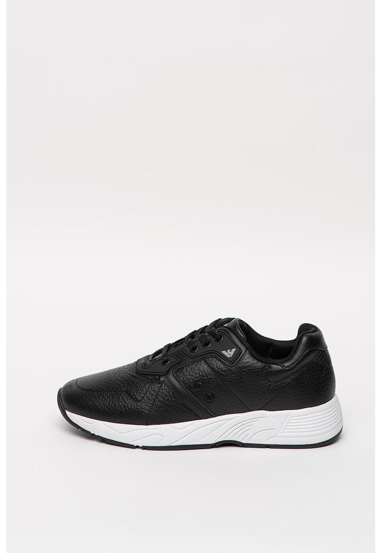 Pantofi sport cu siret si piele