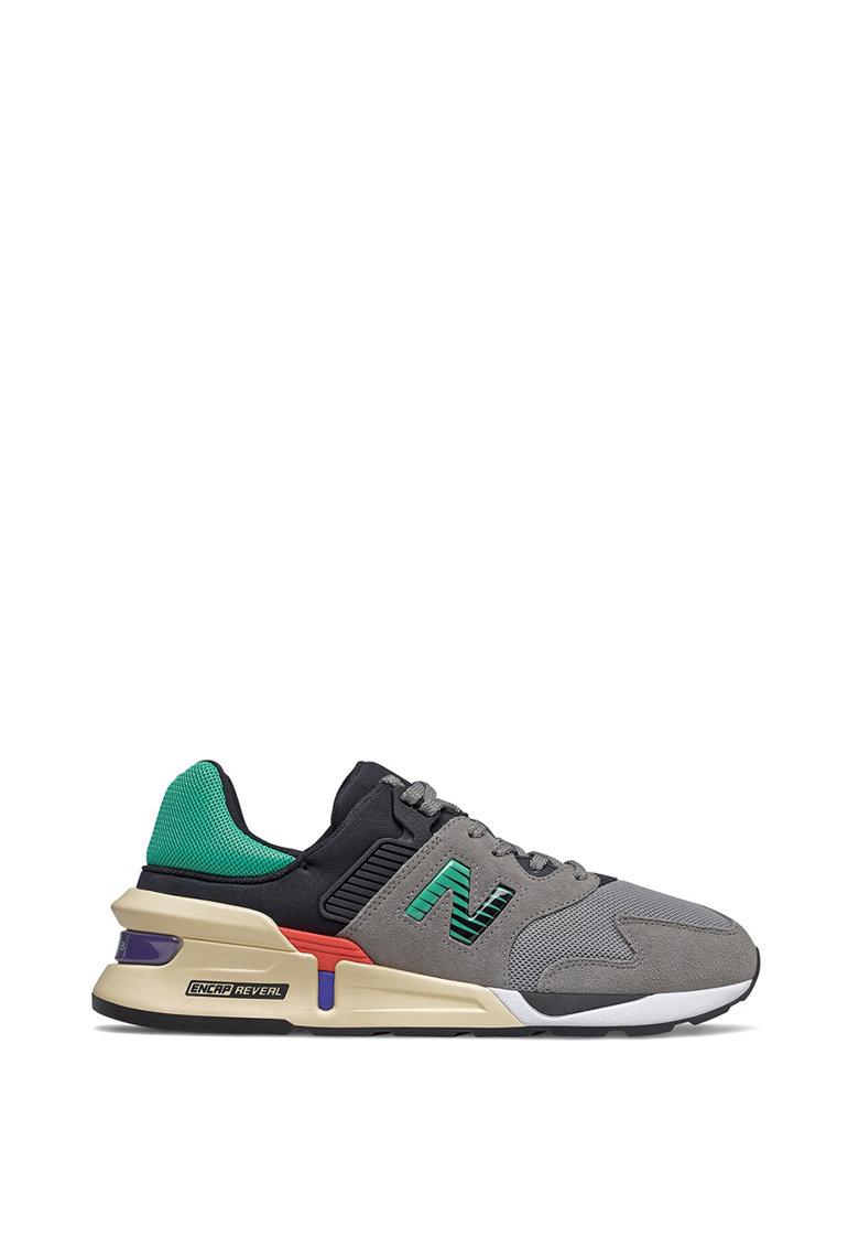 Pantofi sport de material textil si piele 997S imagine