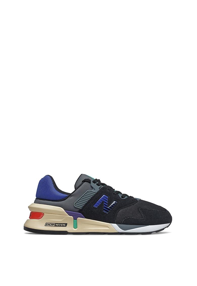 Pantofi sport de material textil si piele 997S