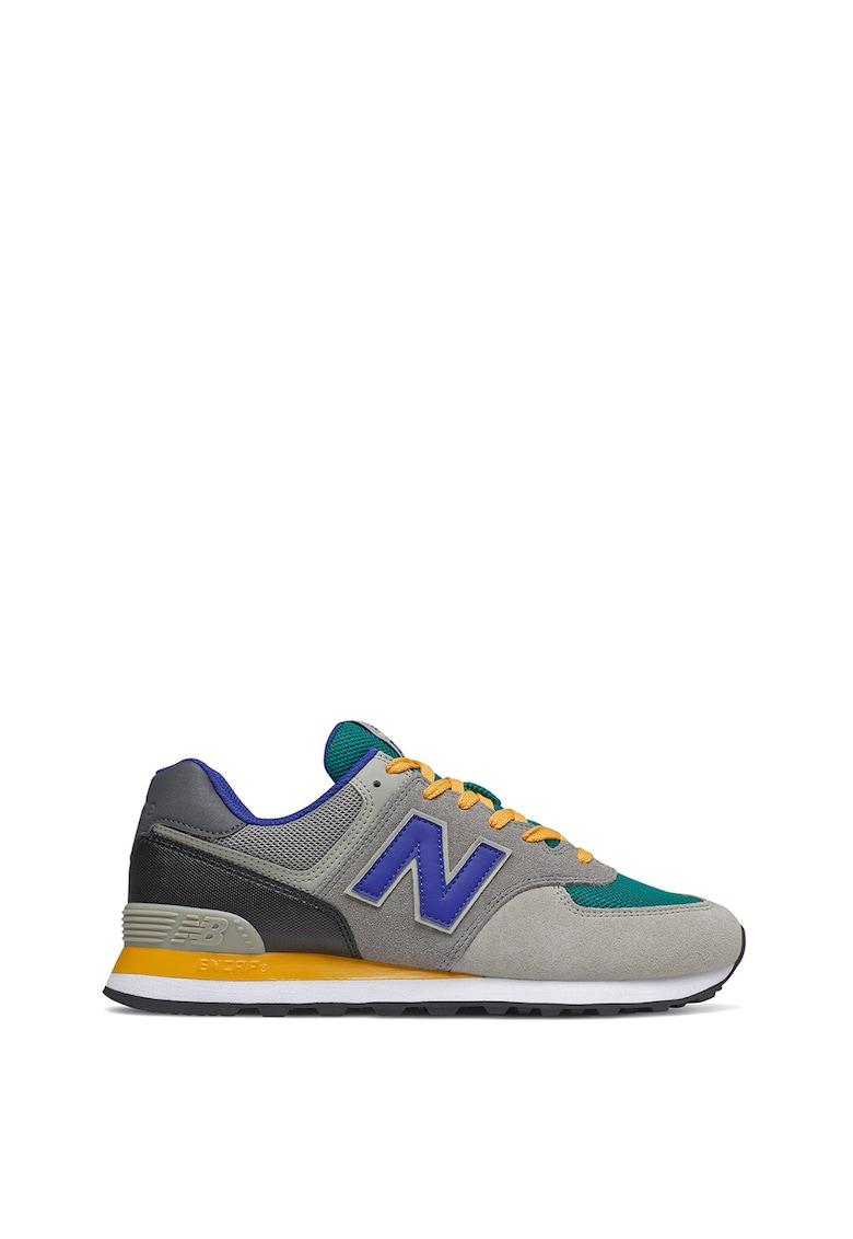 Pantofi sport colorblock cu insertii de piele intoarsa 574