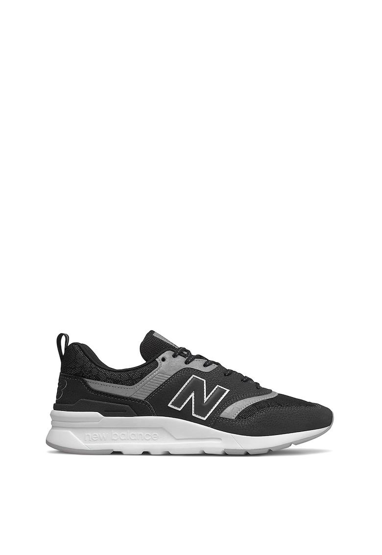 Pantofi sport de piele cu insertii de material textil 997H