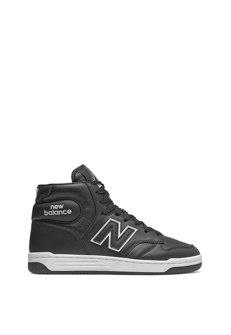 Pantofi sport high-top cu insertii de piele 480