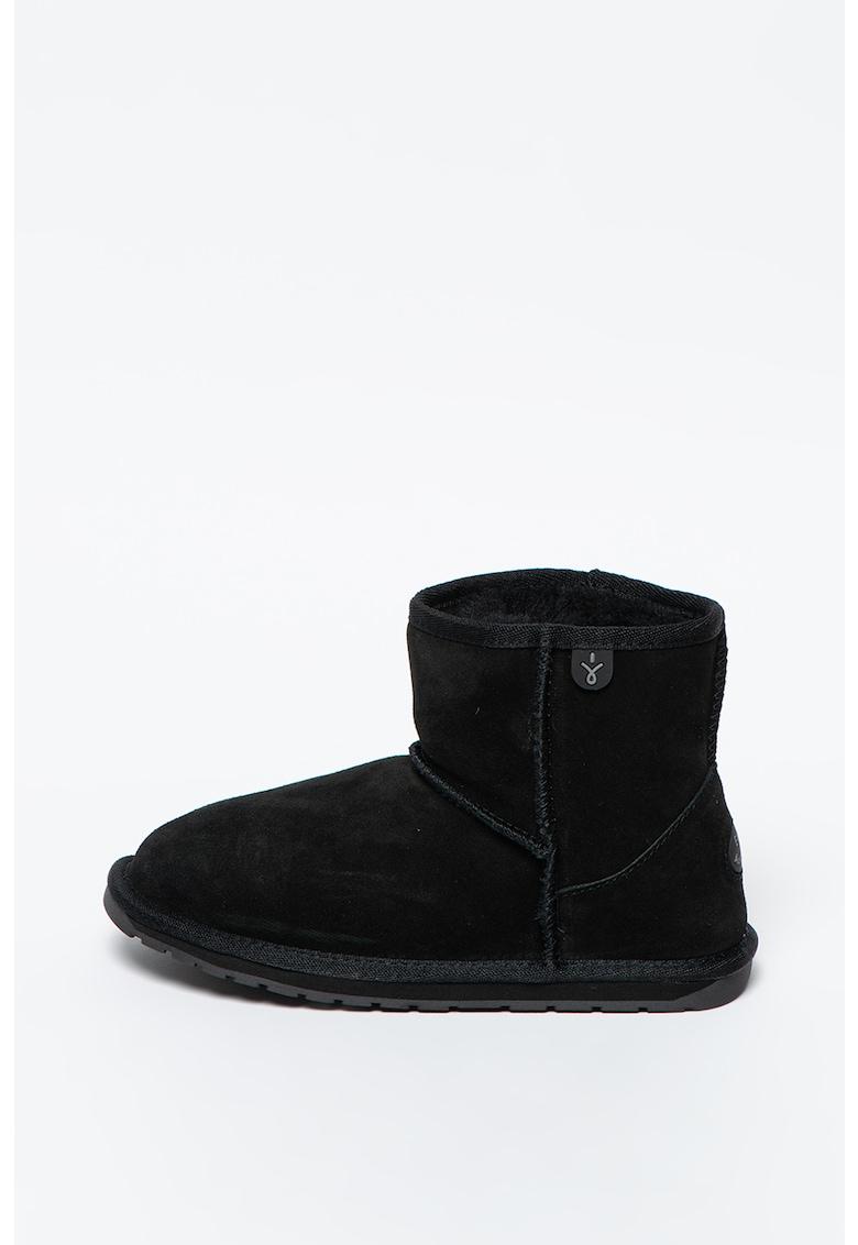 Ghete de iarna din piele intoarsa fara inchidere Wallaby Mini imagine fashiondays.ro 2021
