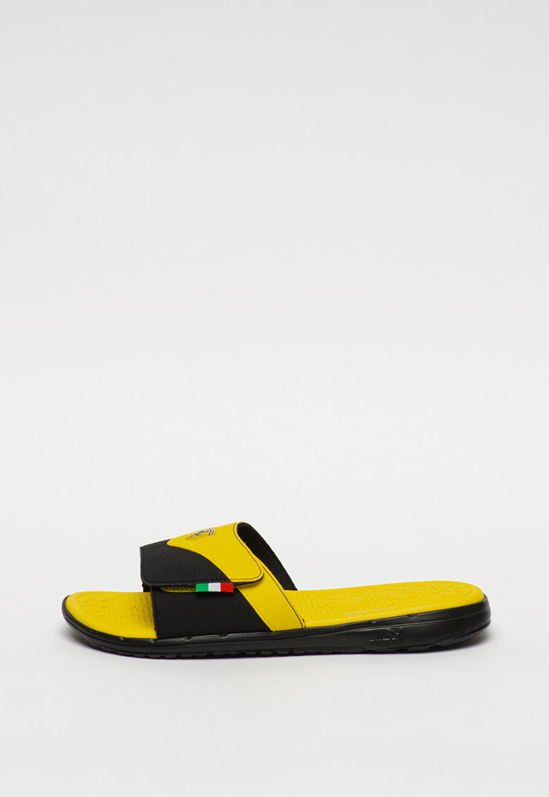 Papuci cu velcro si model colorblock