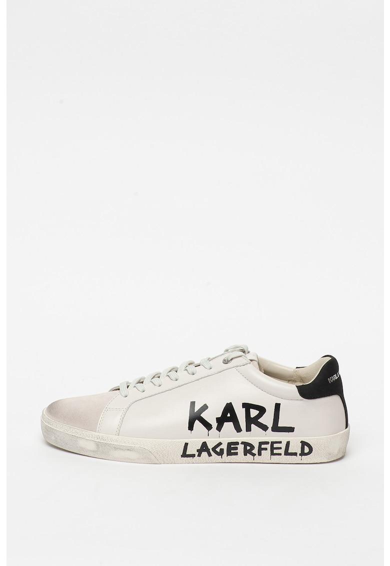 Pantofi sport de piele cu insertii de piele intoarsa Skool imagine fashiondays.ro
