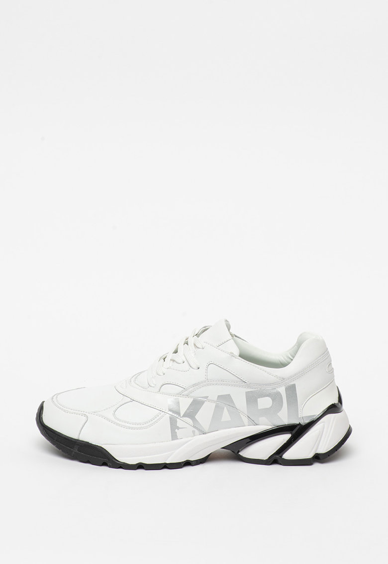 Pantofi sport de piele cu detaliu logo Volt