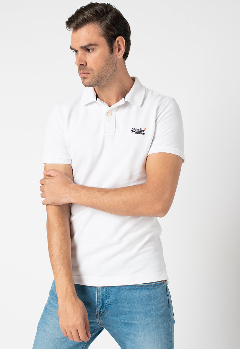 Tricou polo din pique Classic Bărbați imagine