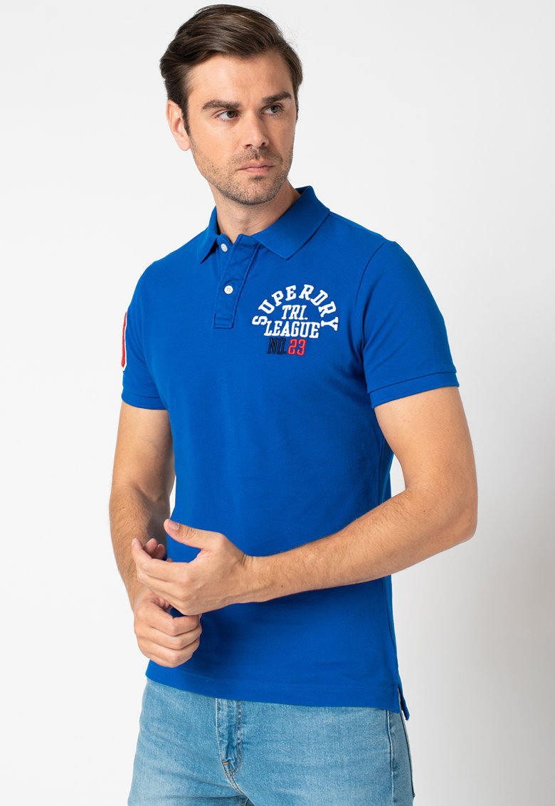Tricou polo din bumbac pique Superstate Bărbați imagine
