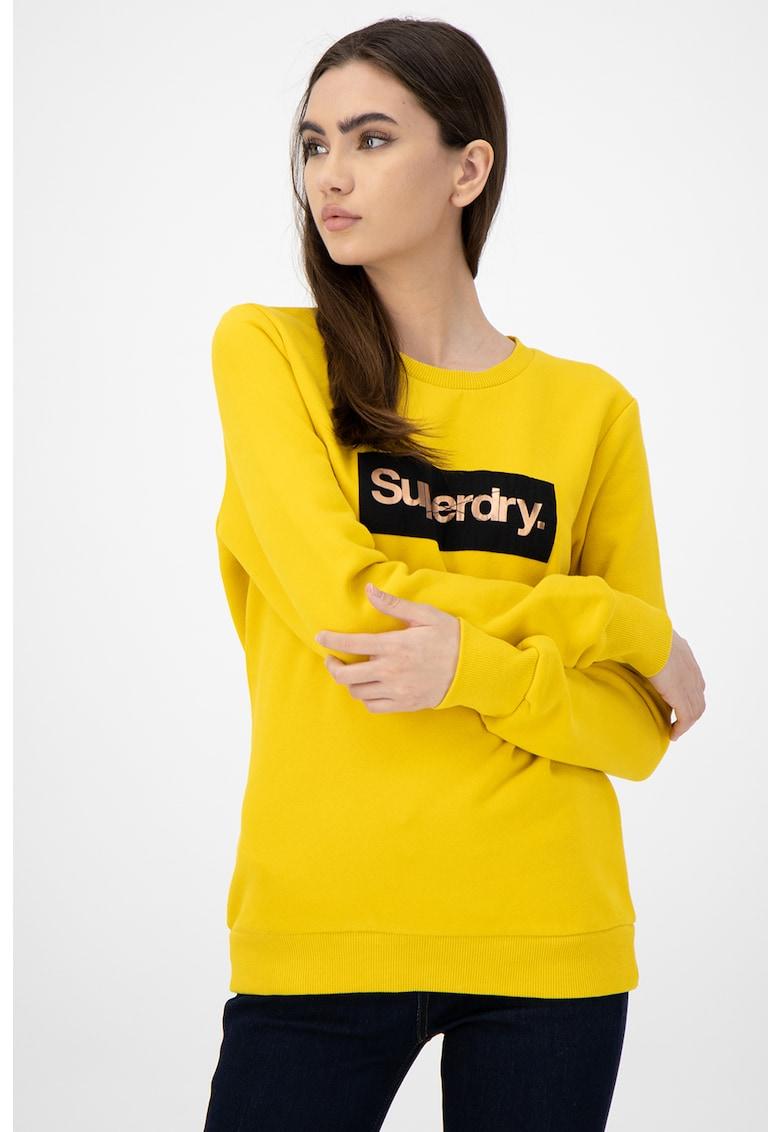 Bluza sport cu imprimeu logo de la SUPERDRY