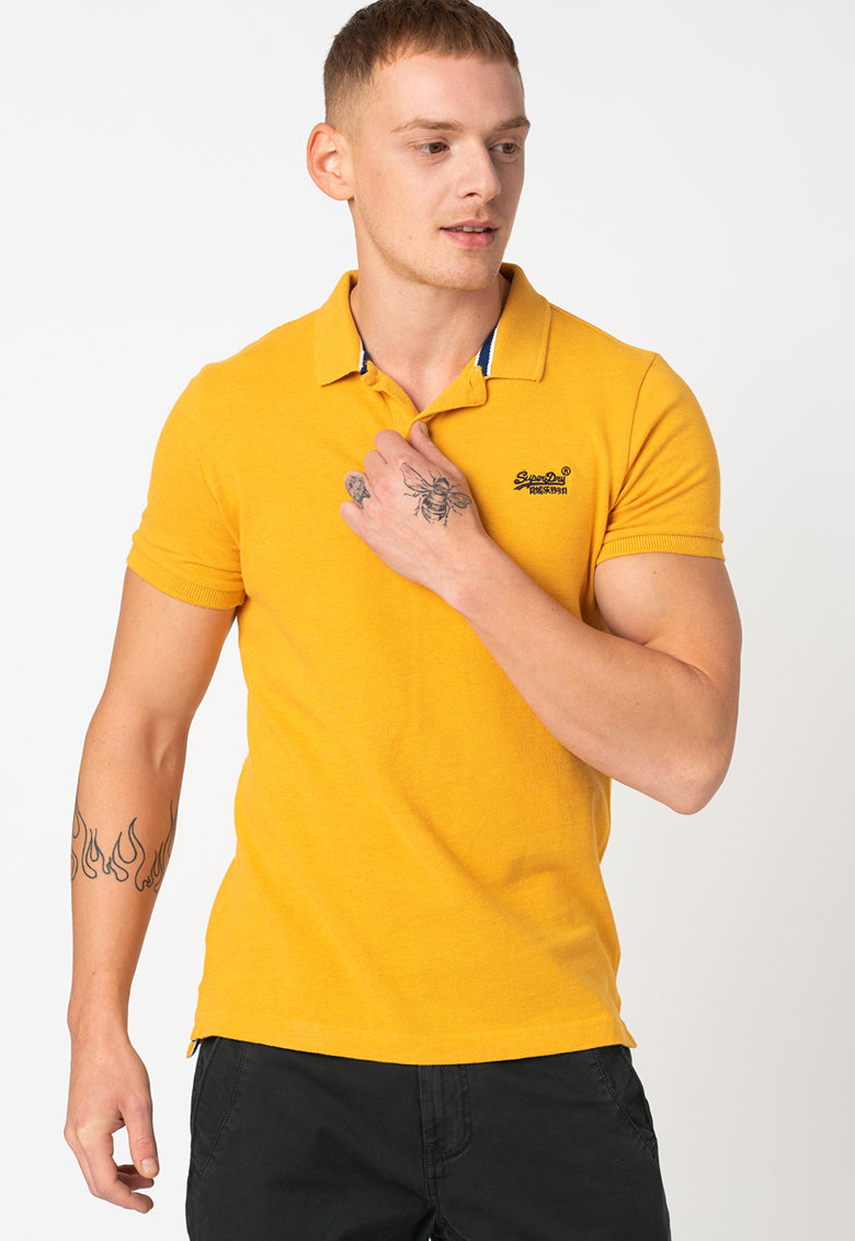 Tricou polo slim fit Bărbați imagine