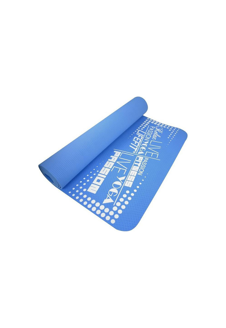 Saltea fitness/yoga/pilates LifeFit TPE 186x61x0.4cm - Albastru