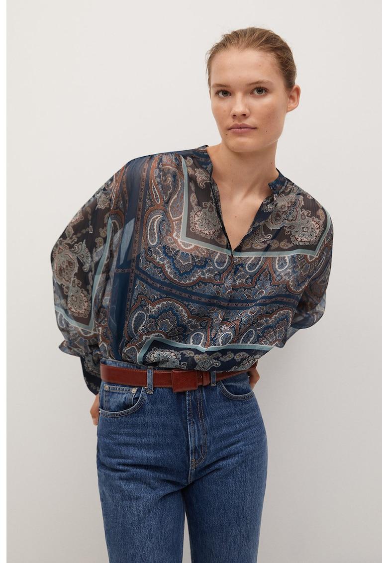 Bluza semi-transparenta cu imprimeu grafic Desire
