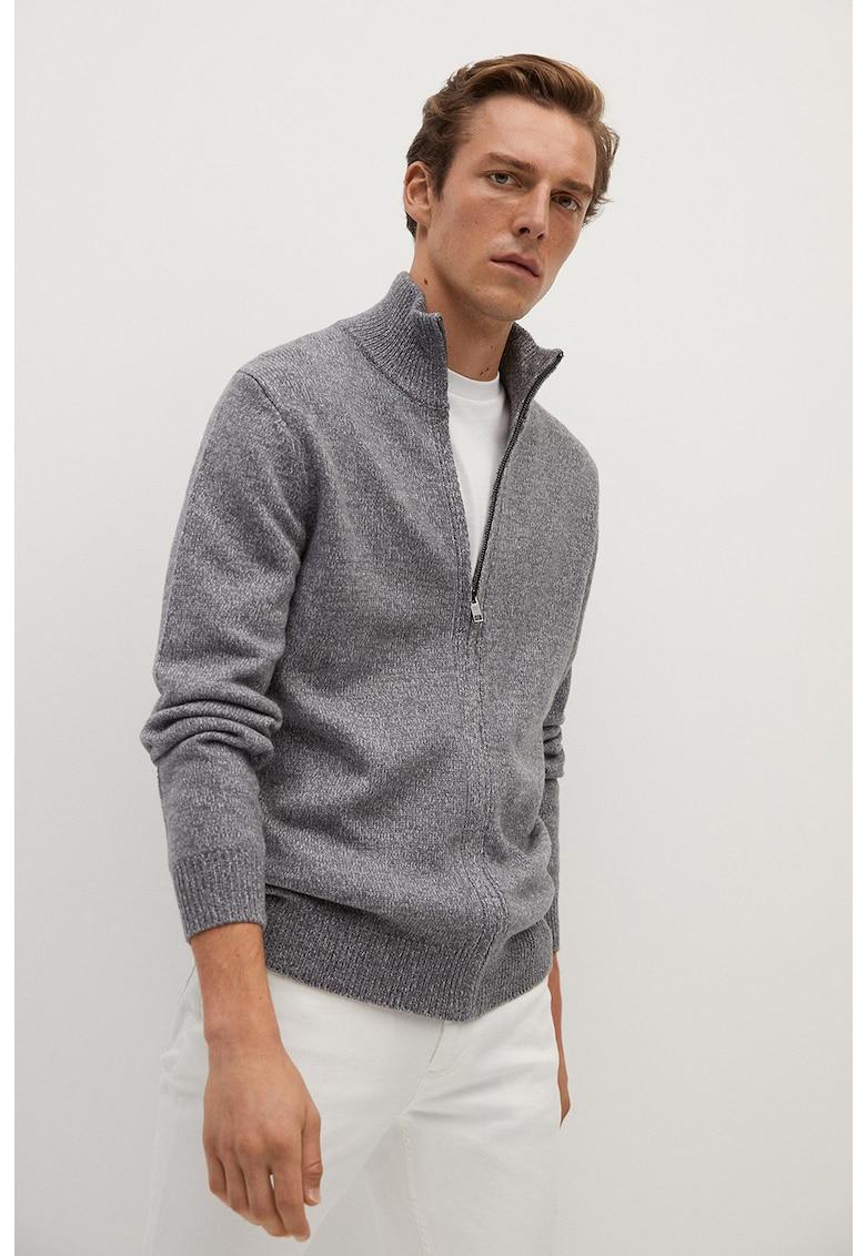 Cardigan din amestec de lana cu fermoar si guler scurt Binger