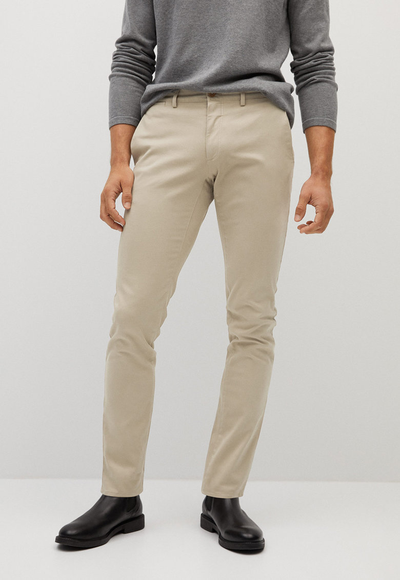 Pantaloni chino slim fit Barna