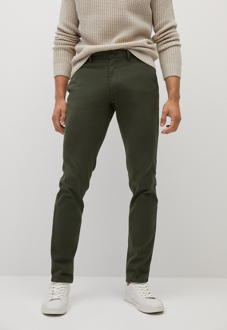 Pantaloni chino slim fit Barna imagine