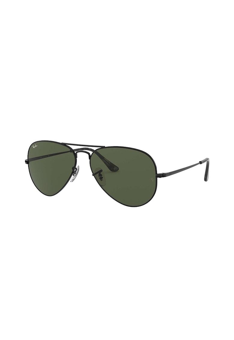 Ochelari de soare aviator unisex cu lentile uni