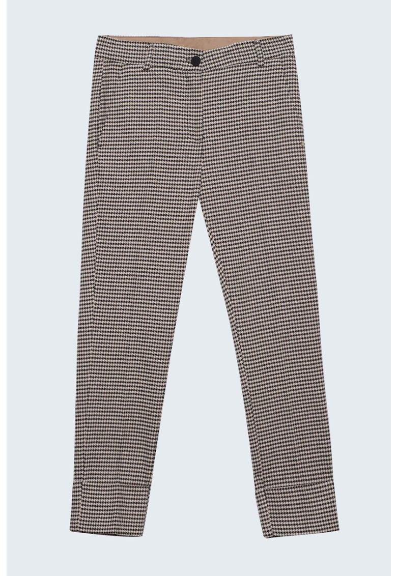 Pantaloni cu imprimeu houndstooth