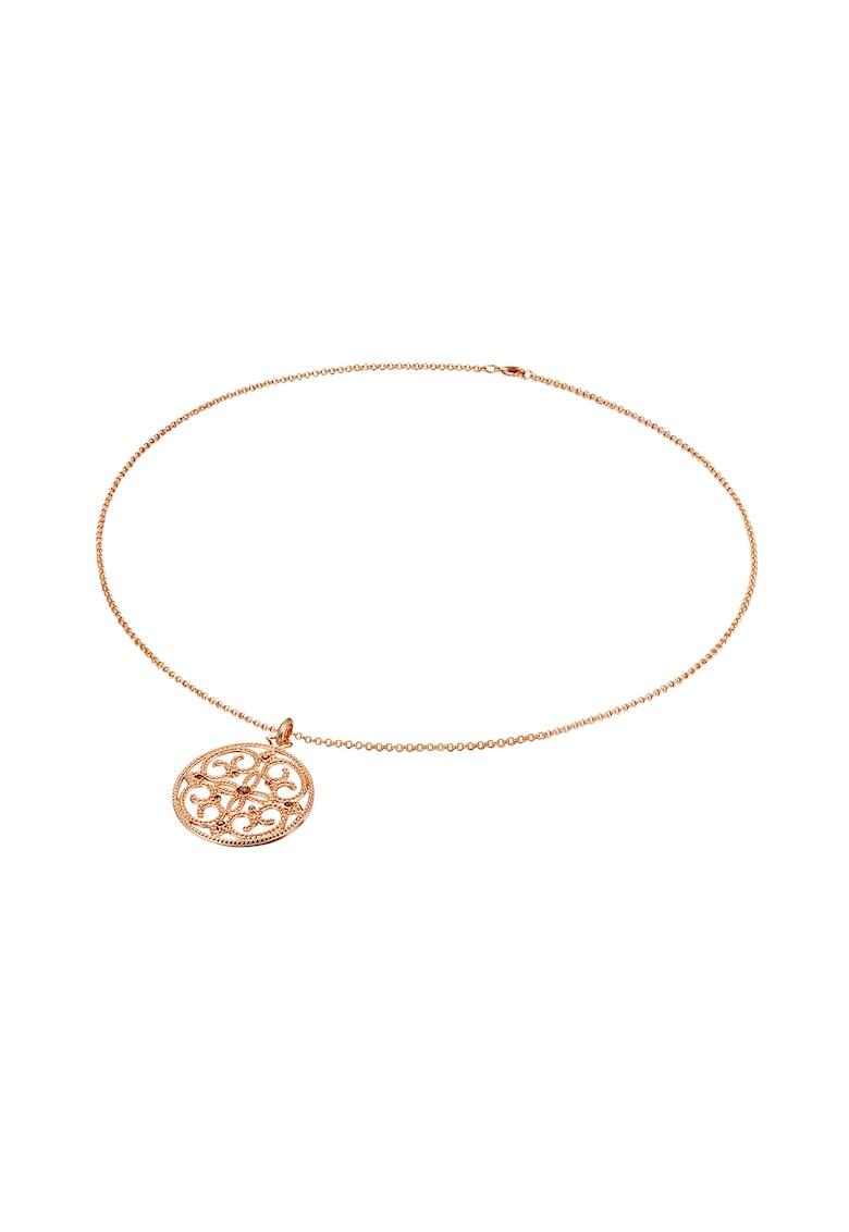 Colier placat aur rose si decorat cu cristale Swarovski imagine fashiondays.ro