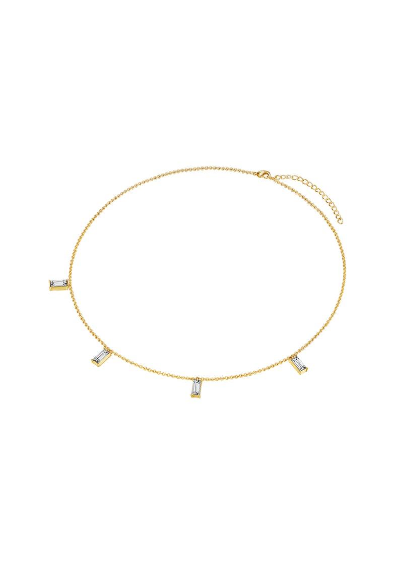 Colier placat aur si decorat cu cristale Swarovski de la Highstreet Jewels