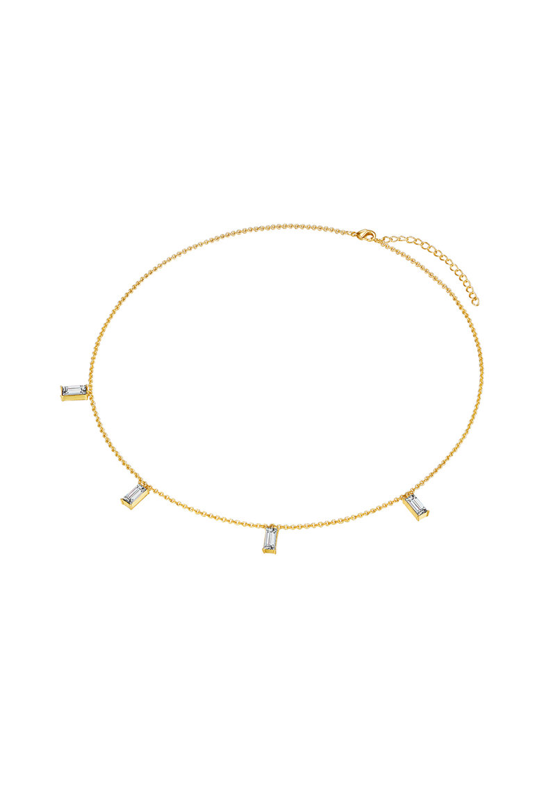 Colier placat aur si decorat cu cristale Swarovski poza fashiondays