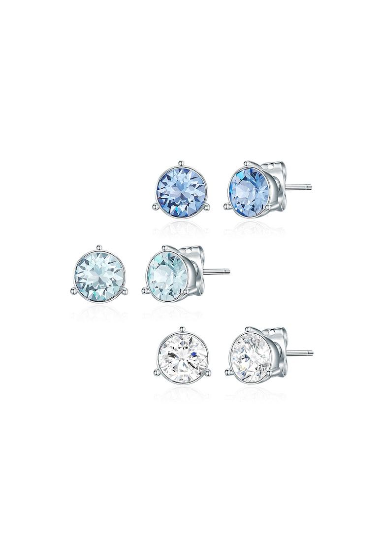 Set de cercei cu tija decorati cu cristale Swarovski - 3 perechi
