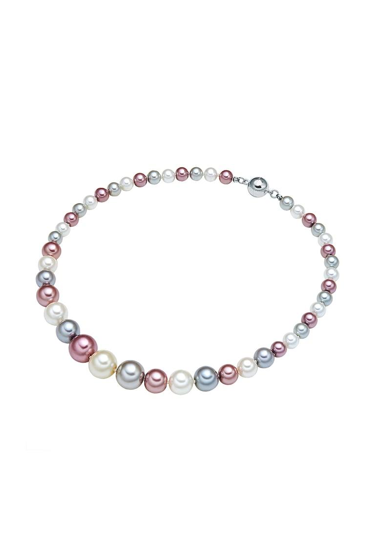 Colier placat cu rodiu si cu perle sintetice imagine promotie