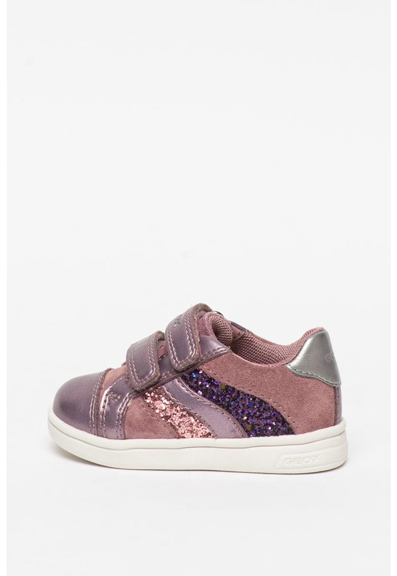 Pantofi sport cu velcro si insertii de piele intoarsa DjRock