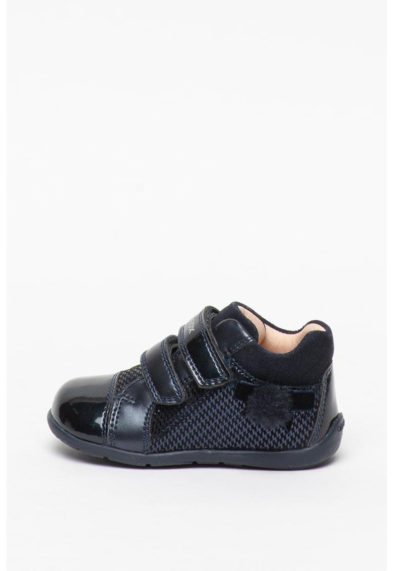 Pantofi sport de piele cu insertii de piele ecologica Kaytan