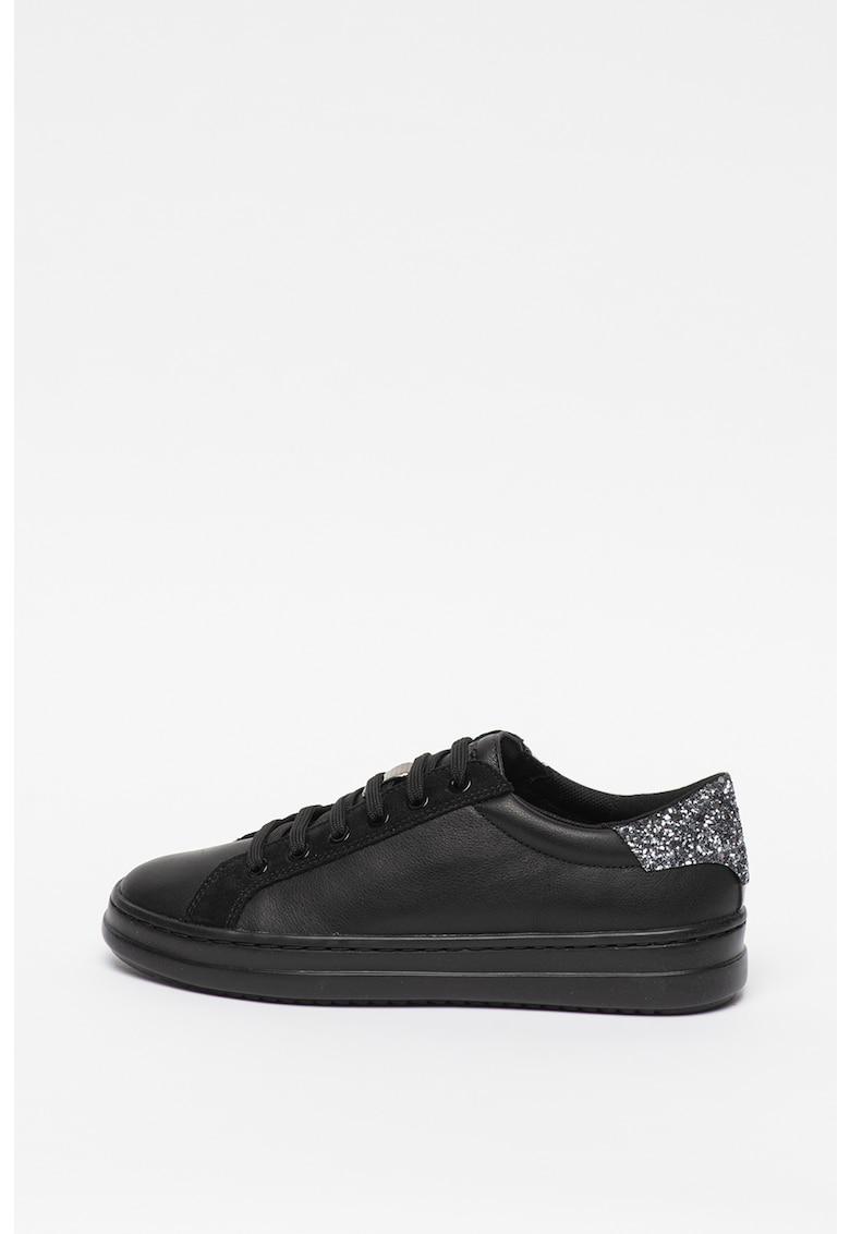 Pantofi sport de piele cu insertii stralucitoare Pontoise imagine