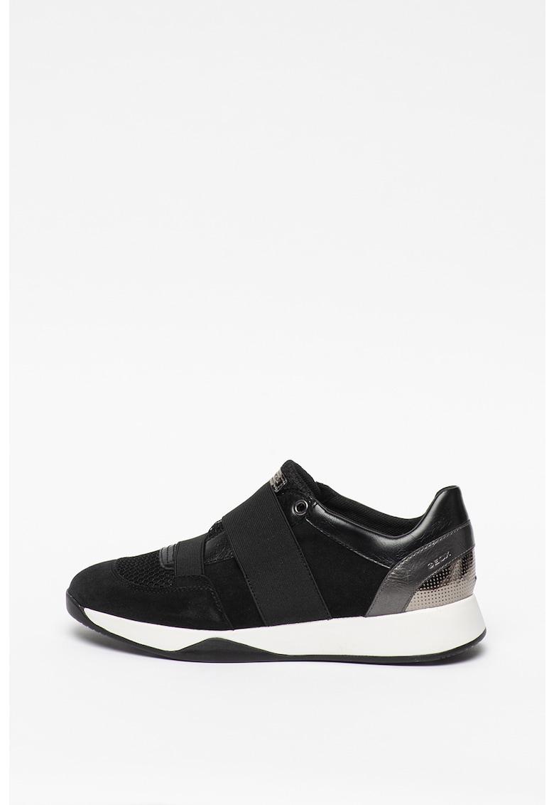 Pantofi sport slip-on cu detalii din piele Suzzie